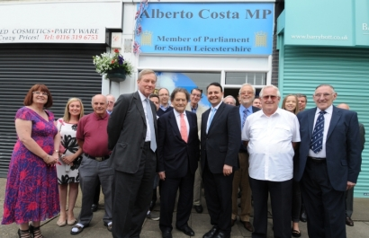 Lord Lawson, Lord Robathan, Alberto Costa MP and friends