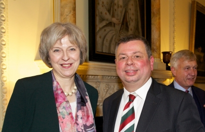 Neil with Theresa May