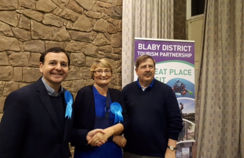 Alberto Costa MP, Cllr Maggie Wright and Cllr. Terry Richardson