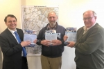 Alberto with Sharnford Traffic Action Group (STAG) members, Mr Jack Feast and Mr Michael Lee